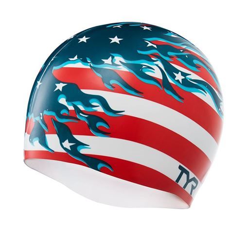 BKSR Swim Cap USA Patriot